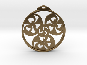 Triskele Pendant / Earring in Natural Bronze