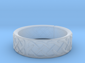 Celtic Knotwork Ring Small in Smooth Fine Detail Plastic
