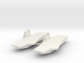 Generic Angled Deck Aircraft Carrier X 2 in White Natural Versatile Plastic