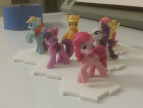 MLP blind bag miniatures interlocking stands in White Strong & Flexible