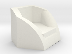 Sillon Hexagonal in White Natural Versatile Plastic