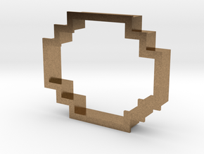 pixely cookie cutter in Natural Brass