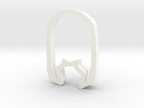 Osaka cookie cutter in White Strong & Flexible Polished