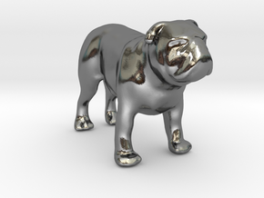 Bulldog - Your Pet 3d Figurine in Polished Silver