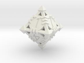 D8 - Andrew Bell 3d - Design1 in White Strong & Flexible