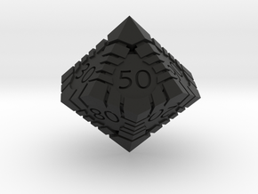 D100 - Andrew Bell 3d - Geometric Design 1 in Black Strong & Flexible