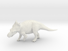 Old Bull - Pachyrhinosaurus canadensis 1/40 in White Strong & Flexible