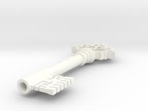 201Key in White Processed Versatile Plastic