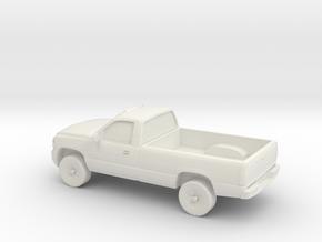 1/87 1999-02 Chevrolet Silverado Duramax Single Ca in White Natural Versatile Plastic