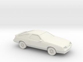 1/87 1984-87 Dodge Daytona/Chrysler Laser  in White Natural Versatile Plastic
