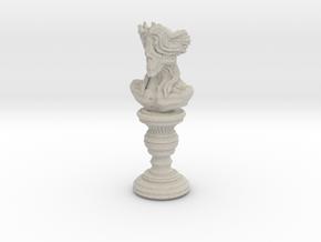 Creature statue - 01_90 in Natural Sandstone