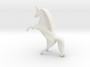 Unicorn in White Natural Versatile Plastic