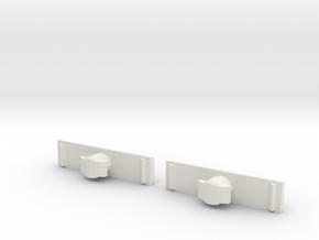Kids Rhino Lock Buttons 1 Pair Part 2 in White Natural Versatile Plastic