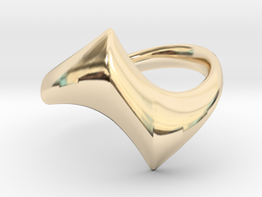 Twisting Yang - Size 7 in 14K Yellow Gold