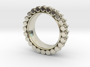 Bullet ring(size = USA 4-4.5) in 14k White Gold