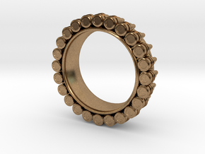 Bullet ring(size = USA 4-4.5) in Natural Brass