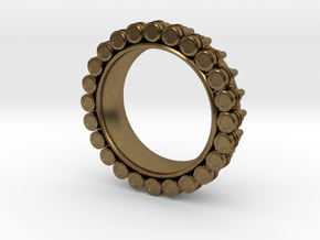 Bullet ring(size = USA 4.5-5) in Natural Bronze