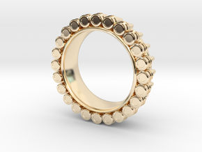 Bullet ring(size = USA 6) in 14K Yellow Gold