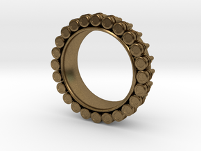 Bullet ring(size = USA 5.5) in Natural Bronze