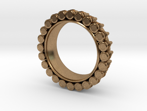Bullet ring(size = USA 5.5) in Natural Brass