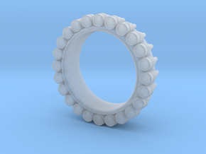 Bullet ring(size = USA 6.5) in Smooth Fine Detail Plastic