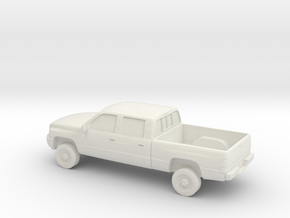 1/87 1994-01 Dodge Ram Crew Cab in White Natural Versatile Plastic