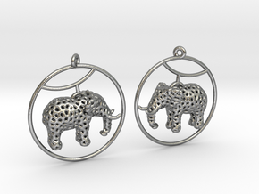 Elephant Earring in Natural Silver