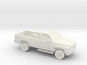 1/87 1994-01 Dodge Ram Single Cab in White Natural Versatile Plastic