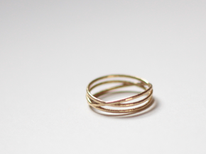 "Ring ""Three's a crowd"" / size 7.5 in Natural Brass"