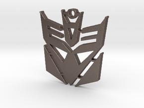 Decepticon Logo Pendant in Polished Bronzed Silver Steel