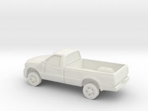 1/87 2005 Ford F-350 XLT Reg Cab Long Box in White Natural Versatile Plastic