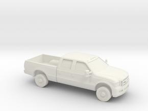 1/87 2005 Ford F 350 Crew Cab in White Natural Versatile Plastic