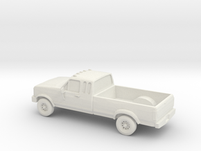 1/87 1989 Ford F250 Extendet Cab in White Natural Versatile Plastic
