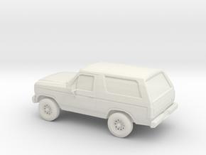 1/87 1984 Ford Bronco in White Natural Versatile Plastic