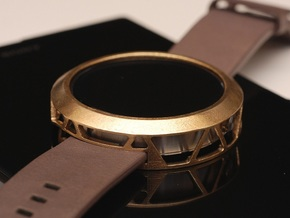 Moto360 Case - Premium in Raw Brass