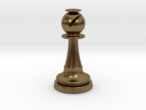 Inception Bishop Chess Piece (Heavy) in Natural Bronze