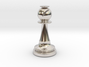 Inception Bishop Chess Piece (Lite) in Platinum