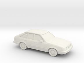 1/87 1985-88 Ford Escort USA in White Natural Versatile Plastic