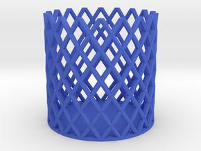 Pen Stand in Blue Processed Versatile Plastic