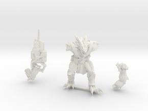 Kurgan with Autocannon in White Natural Versatile Plastic