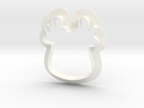 Reindeer Cutter in White Processed Versatile Plastic