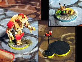 Cheese Golem, Ladybug, 4 Slugs - Mice & Mystics in Frosted Ultra Detail