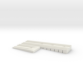 Bretts Wedge Rev 3 in White Natural Versatile Plastic