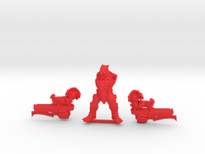 Kelk Hunter with two Thoom Cannons in Red Processed Versatile Plastic