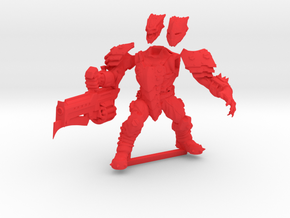 Hunter with Thoom Cannon in Red Processed Versatile Plastic