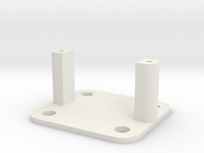 SG90 Servo Mount - Type 2 in White Natural Versatile Plastic