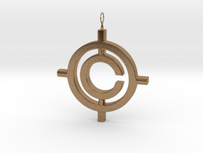 The Conspiracy Pendant in Natural Brass