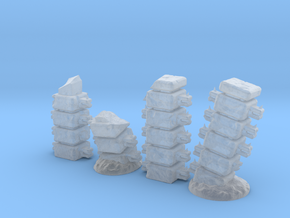 Block Columns (24mm high) in Smooth Fine Detail Plastic
