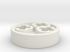 crankshaft piece in White Natural Versatile Plastic