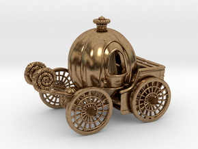 Pumpkin carriage LV2 in Natural Brass
